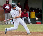 Nick Grady, 23 of Whitefield, is playing single A professional baseball with the Newburgh Newts in Newburgh, N.Y. He is pictured here hitting for the Univeristy of Southern Maine his senior year, when he hit .417.