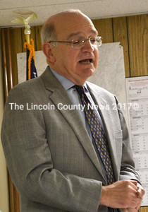 Edgecomb town attorney Bill Dale discusses options for handling an Edgecomb property   owner allegedly in violation of a 2013 court order.