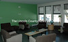 """A lounge in the """"green neighborhood"""" of the new dormitory at Lincoln Academy. (J.W. Oliver photo)"""