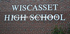 The building formerly known as Wiscasset High School on June 25. Lettering will be taken from the middle school and added to the high school to form the building's new name Wiscasset Middle High School. (Abigail Adams photo)