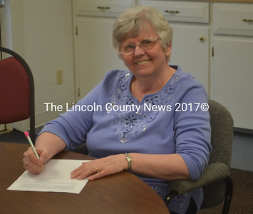 Mary Ellen Anderson, the town clerk, treasurer, and tax collector in Nobleboro, will retire on May 31 after over 33 years on the job. (Alexander Violo photo)