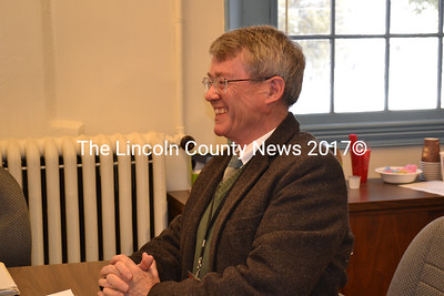 Lincoln County Administrator John O'Connell announces his resignation to the Lincoln County Board of Commissioners at the board's meeting Tuesday morning, Jan. 19. (Charlotte Boynton photo)