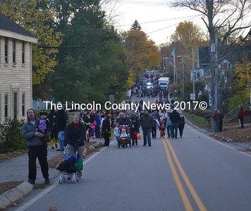 "Wiscasset's ""Nightmare on Federal Street"" included a parade, block party, and the town's first trunk or treat on Halloween, Monday, Oct. 31. (Abigail Adams photo)"
