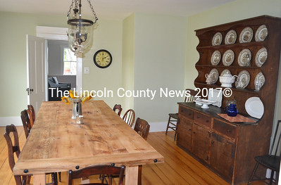 One of the two dining rooms for guests of The Chamberlain House B&B and Event Center. The home is available to rent for private functions. (Maia Zewert photo)