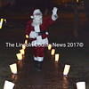 Santa Claus arrives on the town common for Wiscasset's annual tree-lighting ceremony Saturday, Dec. 3. (Abigail Adams photo)