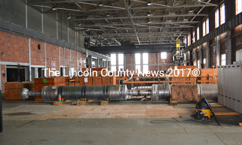 The interior of the Mason Station power plant in February. Joseph Cotter, of Mason Station LLC, recently proposed transforming the old power plant into a marijuana dispensary and production facility. (Abigail Adams photo)