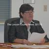Waldoboro Town Manager Linda-Jean Briggs speaks during a meeting of the Waldoboro Board of Selectmen in June. Briggs will resign effective Jan. 20. (Alexander Violo photo)