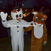 Frosty the Snowman and Rudolph the Red-nosed Reindeer attend Wiscasset's annual tree-lighting ceremony on the town common Saturday, Dec. 3. (Abigail Adams photo)