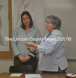 Somerville Town Clerk Kelly Payson-Roopchand (left) is appointed to the town's comprehensive plan committee by Selectman Susan Greer during the board of selectmen's Feb. 3 meeting. (Alexander Violo photo)