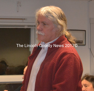 Addressing the Waldoboro Board of Selectmen Feb. 9, Planning Board Chair Seth Hall recommended the board include specific contract lanaguage in the event the selectmen decide to renew the current town manager's contract. (Alexander Violo photo)