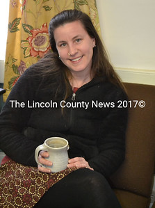Alna Town Clerk Amy Warner at the town office Feb. 8. After approximately eight years, Warner will leave her position following the March 19 town meeting to devote more of her time and attention to the Old Narrow Gauge Farm. (Abigail Adams photo)