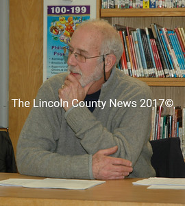 Bill Thomas attends a meeting of the Great Salt Bay School Committee. Thomas is stepping down after nearly 10 years of service on the committee, in addition to 17 years with the Bremen School Committee. (Maia Zewert photo)