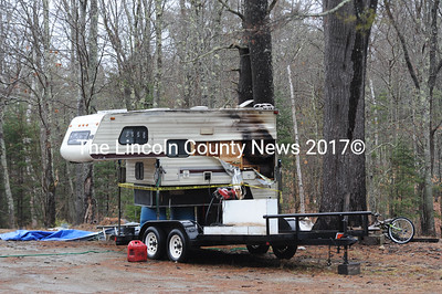 A propane leak from the hot water heater caused a fire in a camper at 154 Back Meadow Rd. early Wednesday morning, March 16, Damariscotta Fire Chief John Roberts said. The Damariscotta Fire Department extinguished the fire and cleared the scene just after 2 a.m. (Paula Roberts photo)