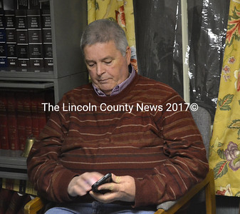 Stan Waltz attends an Alna Planning Board meeting in January 2015. (LCN file photo)