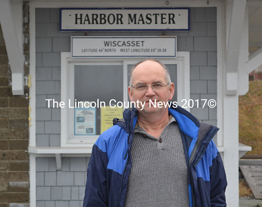 Wiscasset Harbor Master Preston Dunning stands in front of his office at the waterfront Thursday, Feb. 25. (Abigail Adams photo)