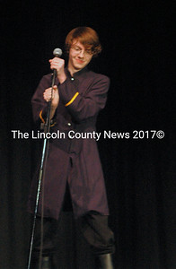 """Jacob Siegel brought down the house with his live performance from the Broadway hit """"Hamilton."""" (Eleanor Cade Busby photo)"""