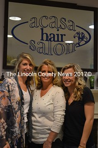 From left: Acasa Hair Salon's Britani Lavertu, Leslie Benner, and Courtney Pitcher are excited about the salon's early-May expansion.