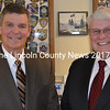Wiscasset interim Police Chiefs Michael Pardue and Jerry Hinton, of the Tideview Group, on duty at the Wiscasset Police Department on Monday, April 4. (Abigail Adams photo)