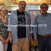 From left: Wendy and Mario Panagos and Dan Goldenson stand in front of the counter at Corner Variety and Pizzeria in Waldoboro on Monday, June 20. Goldenson recently purchased the property and plans to build an addition for a restaurant, which Mario and Wendy Panagos would run. (J.W. Oliver photo)