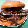 A beef brisket sandwich with barbecue sauce. (J.W. Oliver photo)