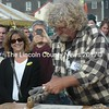 Smokey McKeen gets to work during the oyster shucking contest at the Pemaquid Oyster Festival in Damariscotta on Sunday, Sept. 25. (Alexander Violo photo)