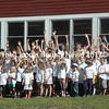 Students gather for a group photo on the International Day of Peace at the Damariscotta Montessori School in Nobleboro. (Alexander Violo photo)