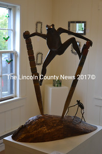 """Sculptor Cynthia Smith's """"After Dark"""" piece is a commanding presence at Saltwater Artists Gallery. (Christine LaPado-Breglia photo)"""