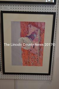 "One of Paul Sherman's large, detailed watercolors, ""Door Knob."" (Christine LaPado-Breglia photo)"