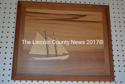 "Bruce Babb's marquetry piece ""The Schooner Bowdoin."" (Christine LaPado-Breglia photo)"