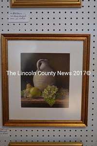 """""""Crock with Hydrangea,"""" a pastel by Claire Hancock, of Damariscotta. (Christine Lapado-Breglia photo)"""