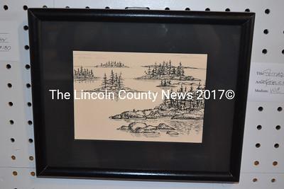 """Maine Memory,"" a pen-and-ink drawing on archival mat by Damariscotta's Debra Arter. (Christine LaPado-Breglia photo)"