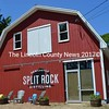 The red barn at 16 Osprey Point Road in Newcastle houses Split Rock Distilling, Maine's first 100 percent organic distillery. (Maia Zewert photo)
