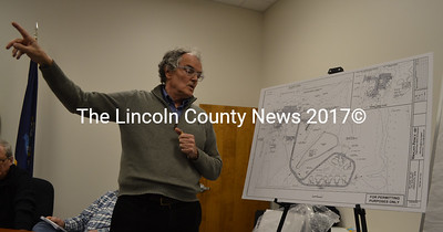 Architect Rick Burt discusses Inn Along the Way's plans for a senior community during the Damariscotta Planning Board meeting Monday, Feb. 6. The planning board voted unanimously to approve the project. (Maia Zewert photo)