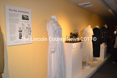 "World War I-era fashions are part of the Maine Historical Society's ""World War I and the Maine Experience"" exhibit. (Charlotte Boynton photo)"
