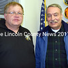 The Lincoln County Fire Chiefs Association elected a new president and vice president during a meeting at the Boothbay Fire Department on Wednesday, Feb. 22. Jefferson Fire Chief Walter A. Morris (left) will serve as president and Alna Assistant Fire Chief Roger Whitney will serve as vice president. (J.W. Oliver photo)