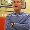 Whitefield resident David Wright weighs in during the special town meeting in the Whitefield Elementary School gym Wednesday, Dec. 6. (Christine LaPado-Breglia photo)