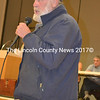 Whitefield Planning Board Chair Jim Torbert speaks during a special town meeting at Whitefield Elementary School on Wednesday, Dec. 6. (Christine LaPado-Breglia photo)