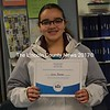 Great Salt Bay Community School seventh-grader Julia Palmer took second place in the Lincoln County Spelling Bee at Bristol Consolidated School on Wednesday, Feb. 15. (Abigail Adams photo)