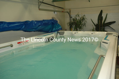 "The ""endless pool"" at Sheepscot Bay Physical Therapy in Waldoboro holds roughly 1,700 gallons of water and measures 7 feet wide by 15 feet long. (Alexander Violo photo)"