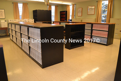 The Lincoln County Registry of Deeds will soon move into a smaller office on the first floor of the courthouse. The district attorney's office will take over the deeds office at the end of March. (Charlotte Boynton photo)