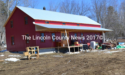 The Yoders moved into the barn they built on their Route 218 property in mid-March. The barn will serve as a temporary home until they are able to build a house on the property. (Abigail Adams photo)