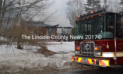 Five area fire departments battled a structure fire at 606 Middle Road in Dresden on Friday, March 24. (Abigail Adams photo)