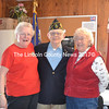 Three members of the Wiscasset High School Class of 1950 attend the Legion open house Saturday, March 25. From left: Janice (Metcalf) Fogg, Robert Fairfield Sr., and Pearl (Erskine) Skillin. (Charlotte Boynton photo)