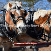 Morton and Chubby take a break from the popular wagon rides at Rice Farms Maple Syrup in Walpole on Maine Maple Sunday, March 26. (J.W. Oliver photo)