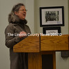 Wiscasset Conservation Commission member Anne Leslie asks the Wiscasset Board of Selectmen to include funds for an energy audit of town buildings in the 2017-2018 budget during a meeting at the municipal building Tuesday, March 28. (Abigail Adams photo)