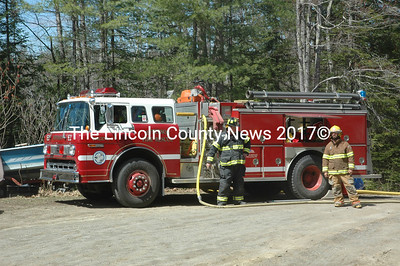 A crew from Jefferson Fire and Rescue's South Station was the first on scene at 1351 South Clary Road the afternoon of Monday, April 17. (Alexander Violo photo)