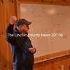 Lincoln County Fire Academy Operations Coordinator John Long gives some final instructions to 33 firefighters before they attacked a mock structure fire at the Gordon Merry Training Facility in Wiscasset. (Abigail Adams photo)