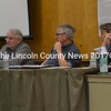 From left: Wiscasset Advisory Committee members Bill Maloney, Steve Christiansen, Susan Robson, and Lonnie Kennedy-Patterson attend a meeting Monday, April 24. (Abigail Adams photo)