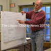 Steve McConnell, of McConnell and Associates, presents Wiscasset's plan to amend the Point East subdivision to the Wiscasset Planning Board on Monday, April 24. (Charlotte Boynton photo)