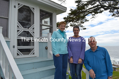 Sea Gull Shop owners Tim and Betsey Norland with General Manager Brooke Cotter (center). (Maia Zewert photo)